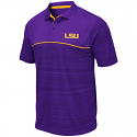 Colosseum LSU Men's Purple Levuka Striped Polo
