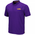 Colosseum LSU Men's Purple Skateboard Polo