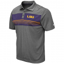 Colosseum LSU Men's Heather Charcoal Smithers Polo