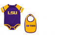 Colosseum LSU Infant Purple & Gold Jersey Style Onesie Bib Set