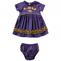 Colosseum LSU Infant Girl's Purple Plucky Dress Set