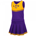 Colosseum LSU Girl's Purple Pinky 2-Piece Cheer Set
