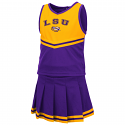 Colosseum LSU Toddler Girl's Purple Pinky 2-Piece Cheer Set