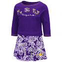 Colosseum LSU Toddler Girl's Purple & White Birdie Skirt Set