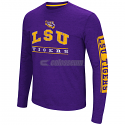 LSU Men's Colosseum Sky Box Long Sleeve Tee - Purple