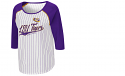 Colosseum LSU Women's Roadtrip 3/4 Sleeve Baseball Jersey Tee