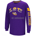 LSU Colosseum Youth Grandstand Long Sleeve Dual Blend Tee - Purple