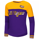 Colosseum LSU Youth Purple & Gold Choctaw Foil Long Sleeve Tee