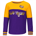 Colosseum LSU Toddler Purple & Gold Choctaw Foil Long Sleeve Tee