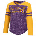 Colosseum LSU Toddler Girl's Purple & Gold Pipsqueak Long Sleeve Tee - 5T only