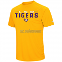 Colosseum LSU Men's Think Classy Short Sleeve Poly Tee - Gold