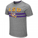 Colosseum LSU Adult Grey Okily Doki Vintage Tri-Blend Tee