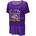 Colosseum LSU Women's No Crying Mesh Short Sleeve Tee - Purple
