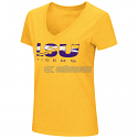 LSU Colosseum Women's Gold Commodity V-Neck Tee