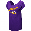 Colossseum LSU Women's Purple Bold Stone Criss Cross Top