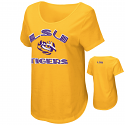 Colosseum LSU Women's Gold Maria Short Sleeve Scoop Neck Top