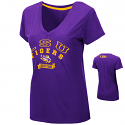 Colosseum LSU Women's Purple Rosie V-Neck Tee