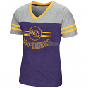 LSU Girl's Purple & Grey Peewee Football Tee