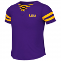 Colosseum LSU Girl's Purple Wels Lace-Up Tee