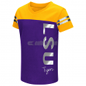 Colosseum LSU Tigers Toddler Girl's Cricket Short Sleeve Tee - Purple & Gold