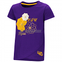 LSU Toddler Girl's Purple Whoo Whoo Flowered Tee