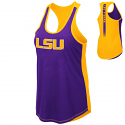 Colosseum LSU Women's Purple and Gold Publicist Tank Top