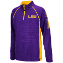 Colosseum LSU Youth Purple & Gold Mime Quarter Zip Pullover Jacket - XL only