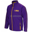LSU Men's Colosseum Barrier Full Zip Wind Jacket - Purple