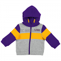 LSU Infant Boy's Snowplough Full Zip Color Block Hoodie