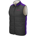Colosseum LSU Men's Reversible Grey & Purple Blinky Reversible Sherpa Vest