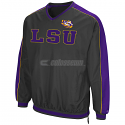 LSU Men's Colosseum Attack Line Windbreaker Pullover - Grey & Purple