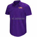 LSU Men's Purple Roberto Short Sleeve Woven Shirt