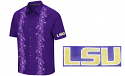 Chiliwear LSU Purple Men's Big Island Camp Shirt