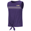 LSU Girl's Purple Roxy Tie Tank