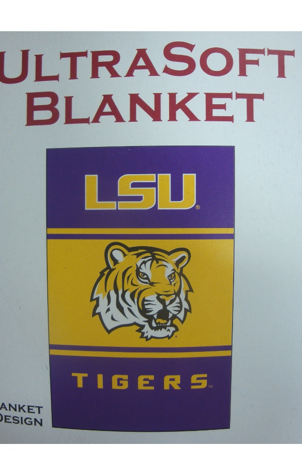 Logo LSU Tigers Ultra Soft Blanket
