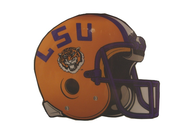 Craftique LSU Tigers Helmet Decal 4 x 3""