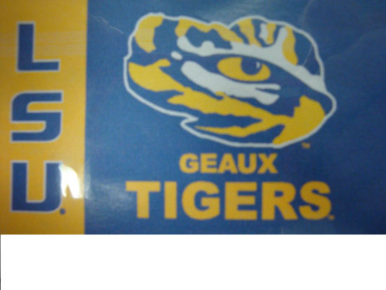 LSU Tigers 3' x 5' Gold and Purple Geaux Tigers Eye Flag with Grommets