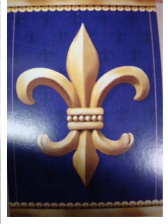 "Purple and Gold Fleur de Lis 29"" x 43"" Vertical Banner Flag"