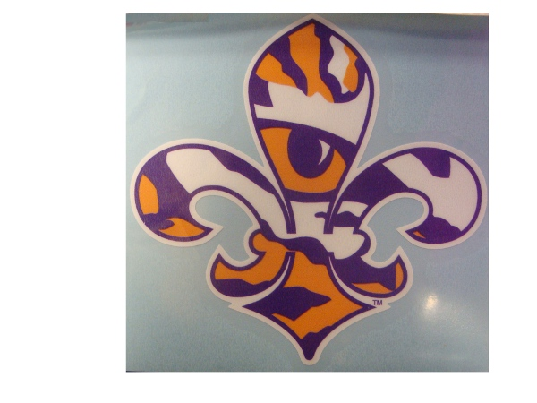 "Craftique LSU Tigers 4"" x 4"" Tiger Eye Fleur de Lis Decal"