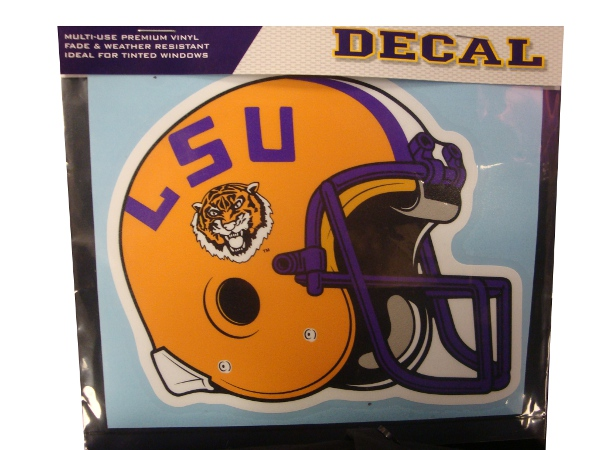 Craftique LSU Tigers Helmet Decal 5x6""