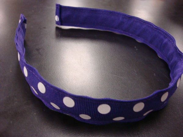 Purple Polka Dot Headband #46