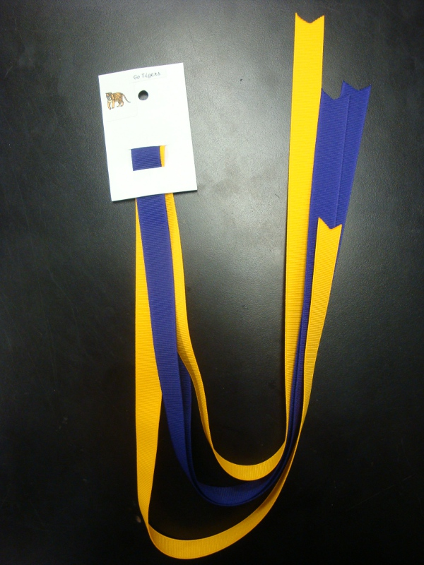 Purple and Gold Grograin Ribbon #1