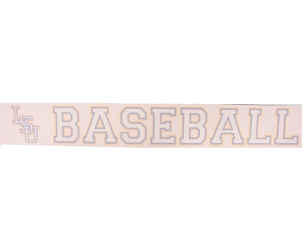 Wincraft LSU Tigers Baseball Decal 3x12.5""