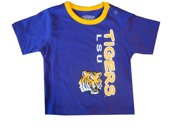 Colosseum LSU Tigers INFANT Snap Shoulder Ringer T-Shirt - Purple