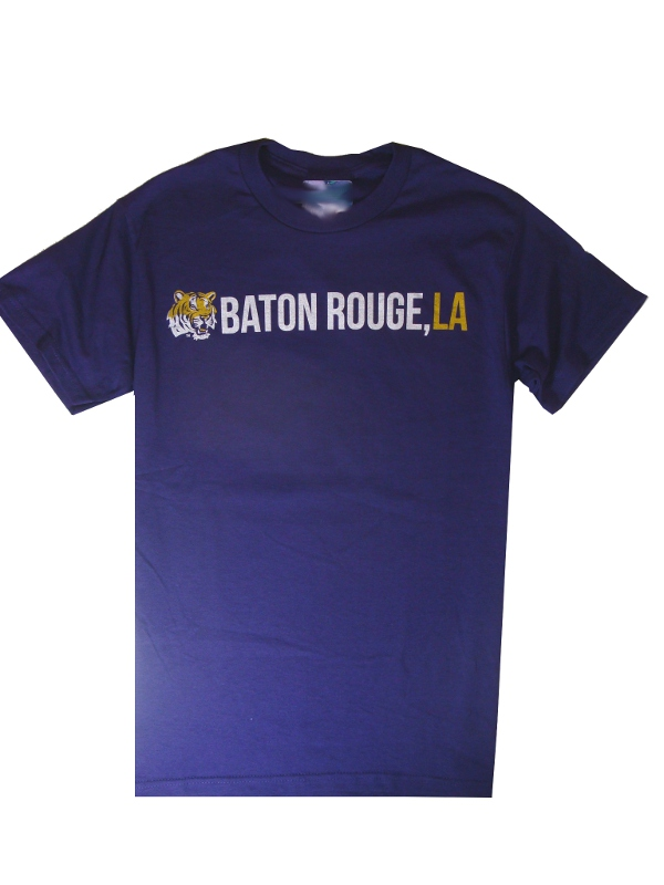 Lsu t shirts purple and gold sports for Custom t shirts baton rouge