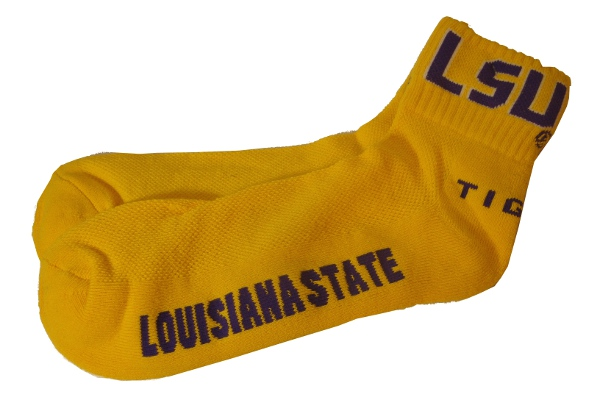 LSU Tigers Adult Quarter Socks - Gold