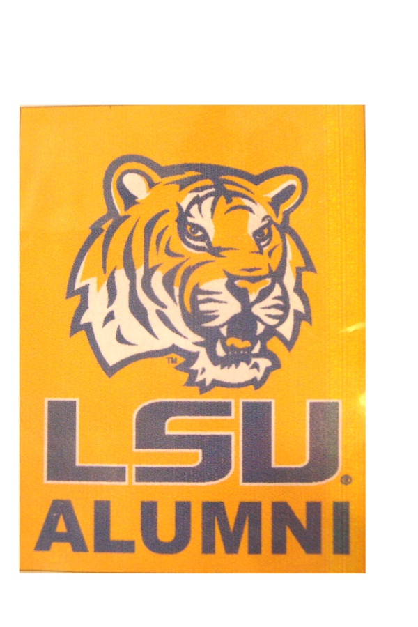 "LSU Tigers Alumni Double Sided Silk Screened Banner 30""x40"" - Gold"