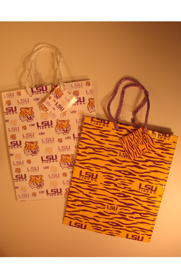 "LSU Tigers Gift Bag 9""x7""x4"" (1 only)"