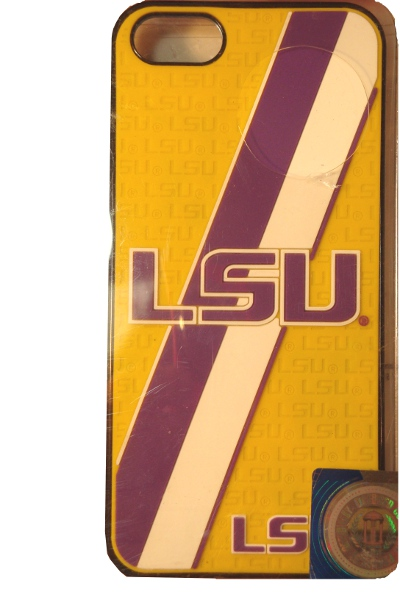 LSU Tigers Striped Protective Hard Mobile Protection Case 5