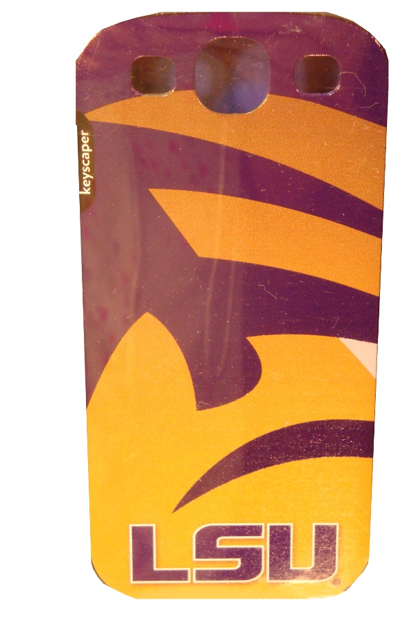 LSU Tigers Striped Hardshell Mobile Protection Case Galaxy S III